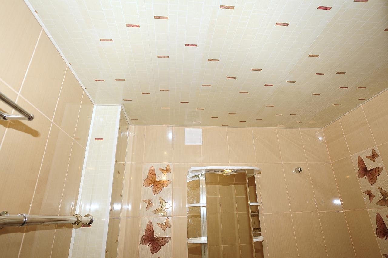 Как сделать подвесной потолок из пластиковых панелей в туалете