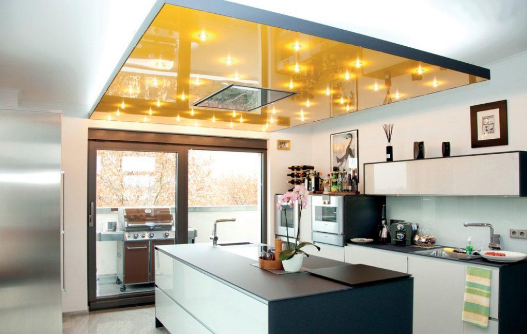 Натяжные потолки - отличный вариант в молодёжном стиле интерьера
