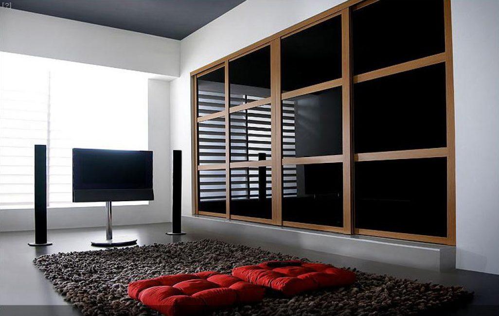 Роскошный черный шкаф для богатого дизайна