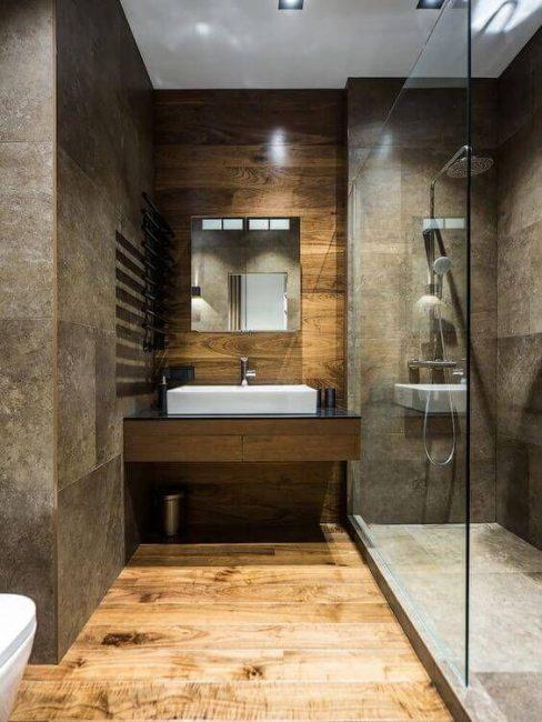 Насыщенный окрас стен ванной
