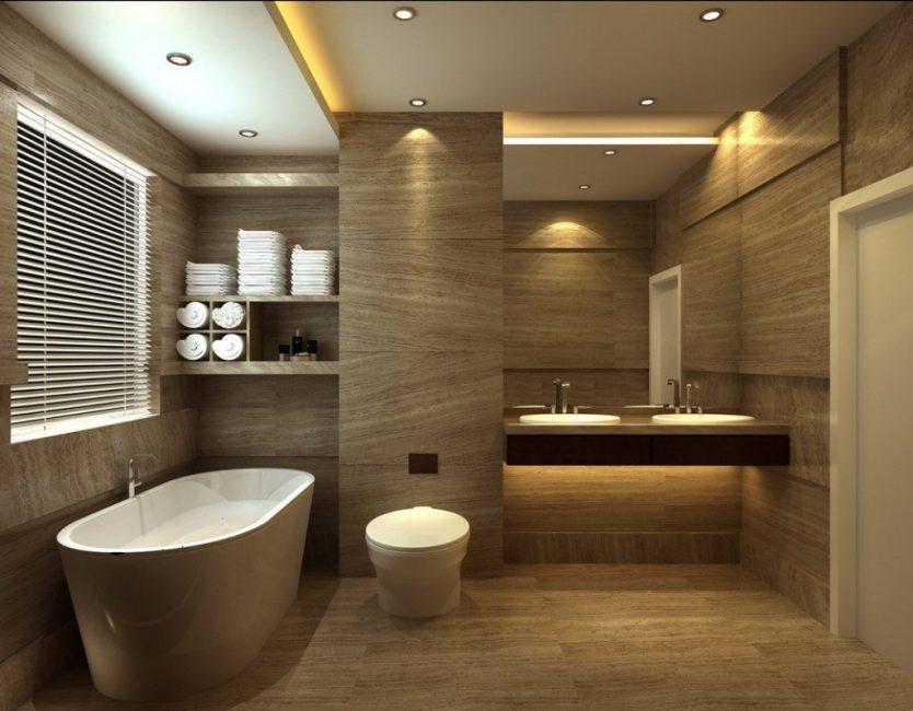 Вариант для большой ванной