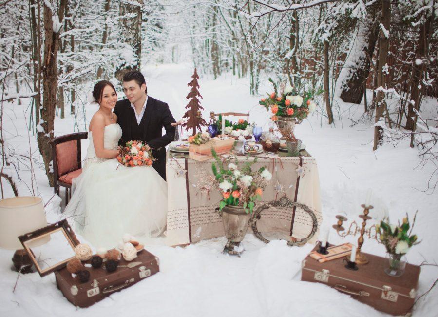 Зимние виды добавят особое очарование в вашу свадьбу