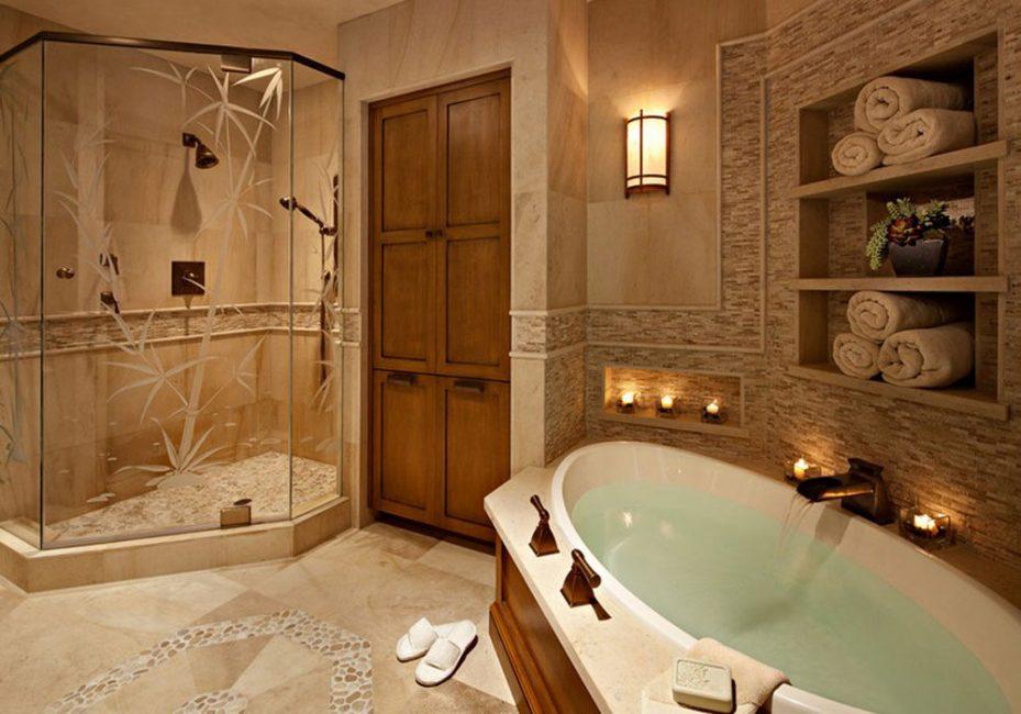 Ванная комната обязательно должна иметь большое зеркало