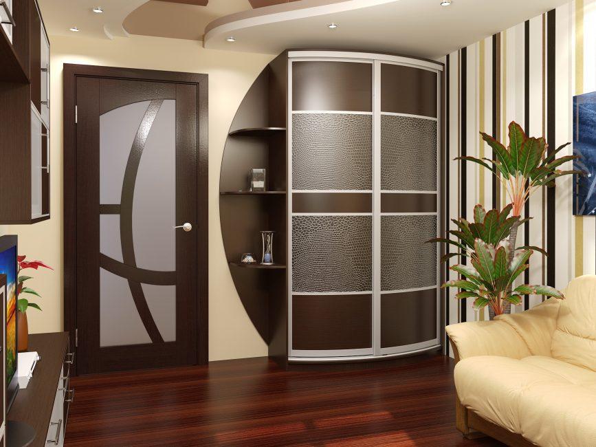 Встроенные шкафы компактно размещаются до потолка