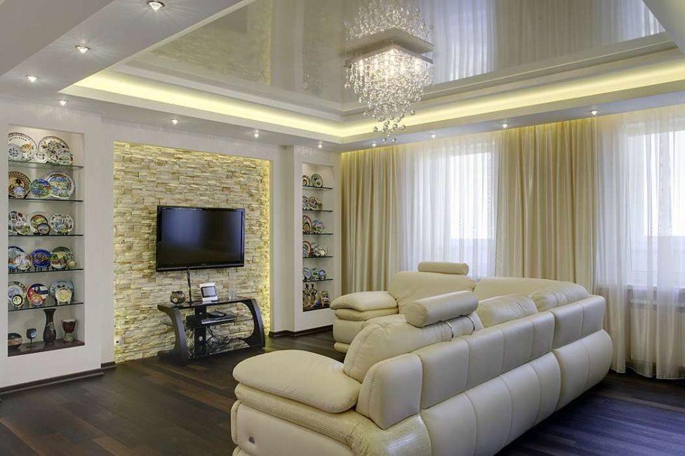 Дополнительная подсветка с помощью потолка