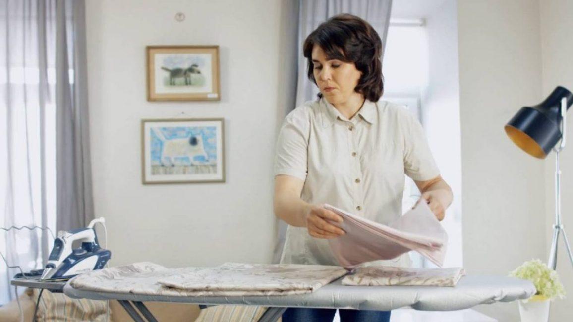Гладить можно только влажное белье