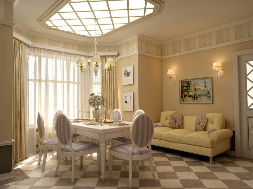 Очень мило смотрится французский стиль в небольшой комнате
