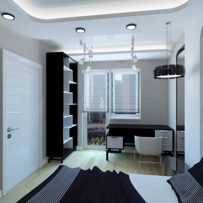 В стиле хай тек часто оформляют студенческие комнаты