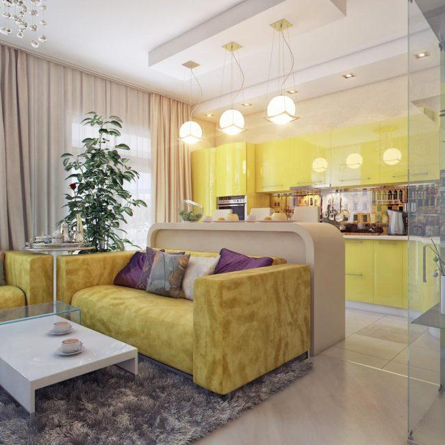 Делайте зонирование в больших объединенных помещениях