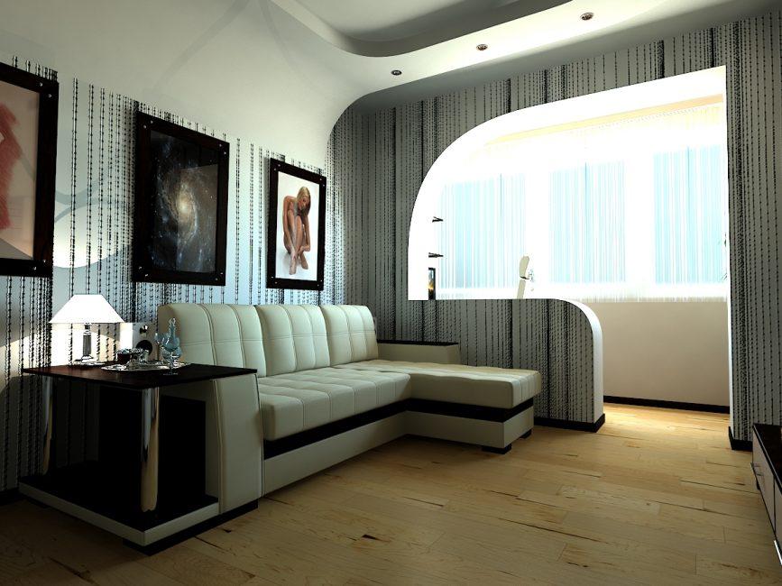 Интересное дизайнерское решение для увеличения пространства