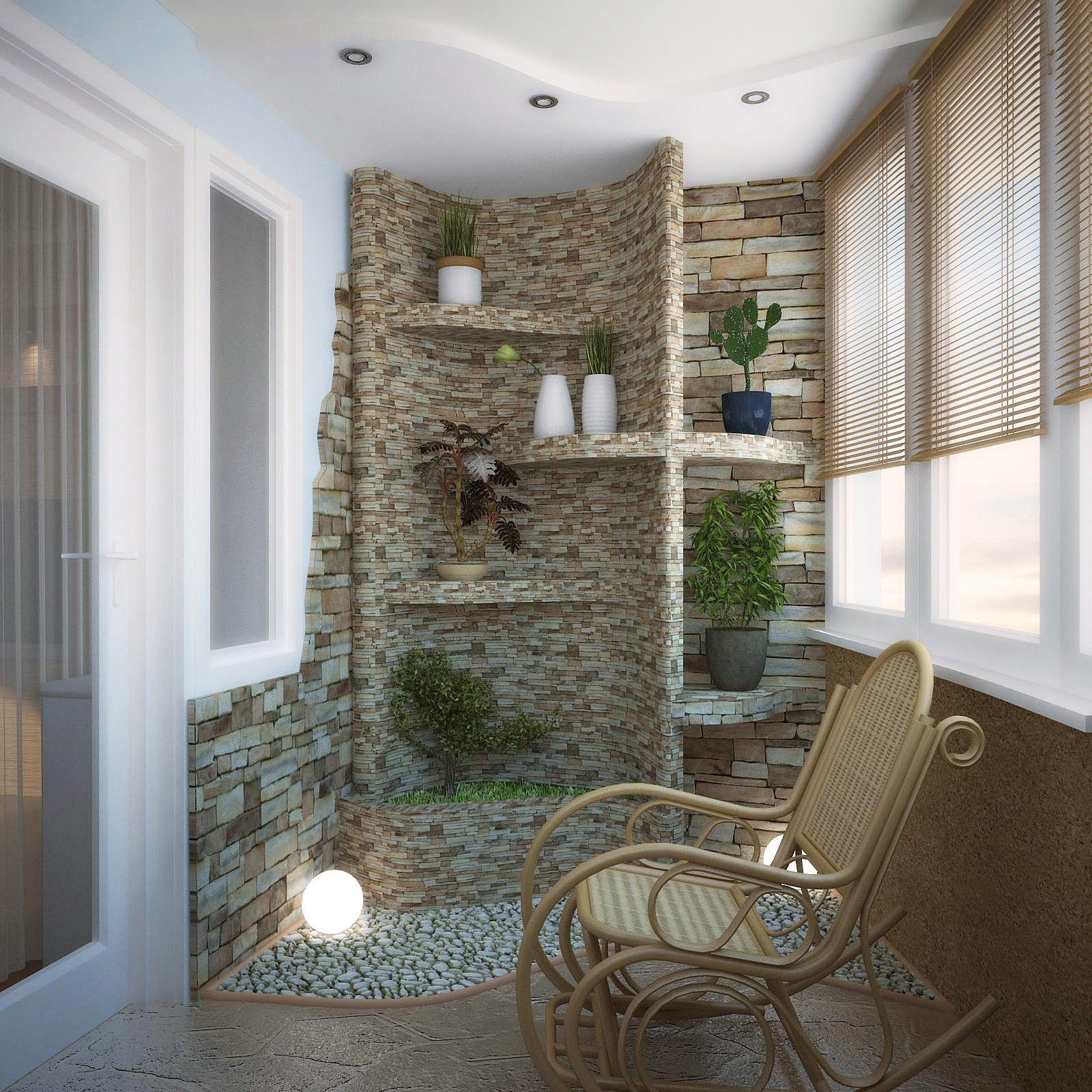 Декоративный камень в интерьере - 141 фото прихожей, на кухн.