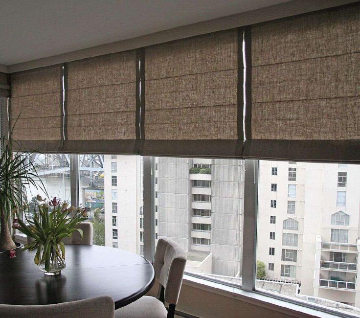 Удобные римские шторы