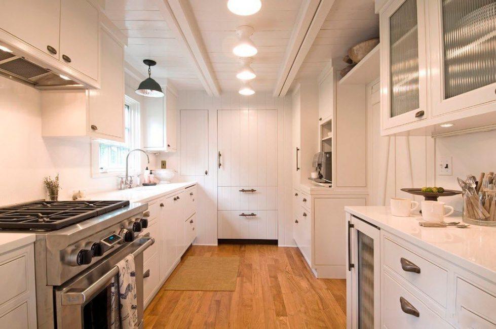 Белый идеально подходит для небольших помещений, так как увеличивает пространство