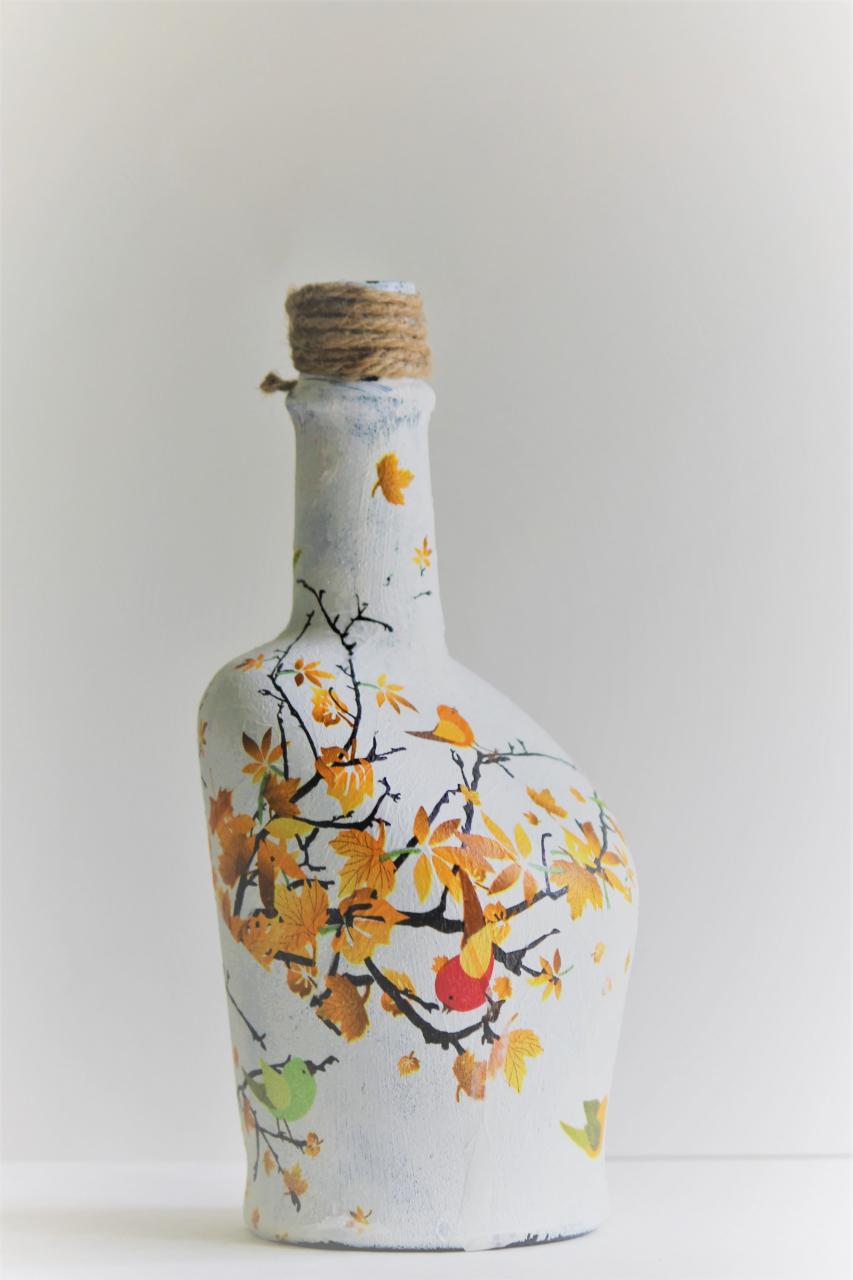 Фото бутылок декупаж на новый год