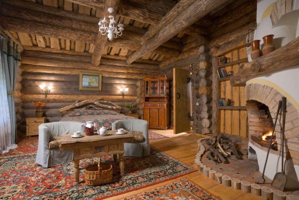 Деревянная мебель с дорожками - русский дух