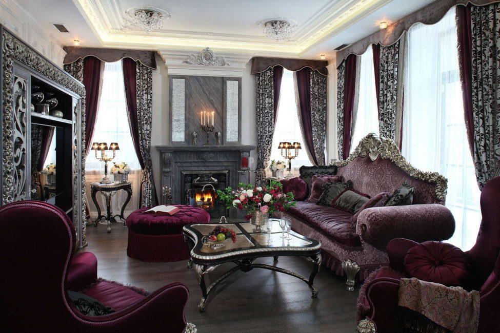 Пышнота барокко в гостиной