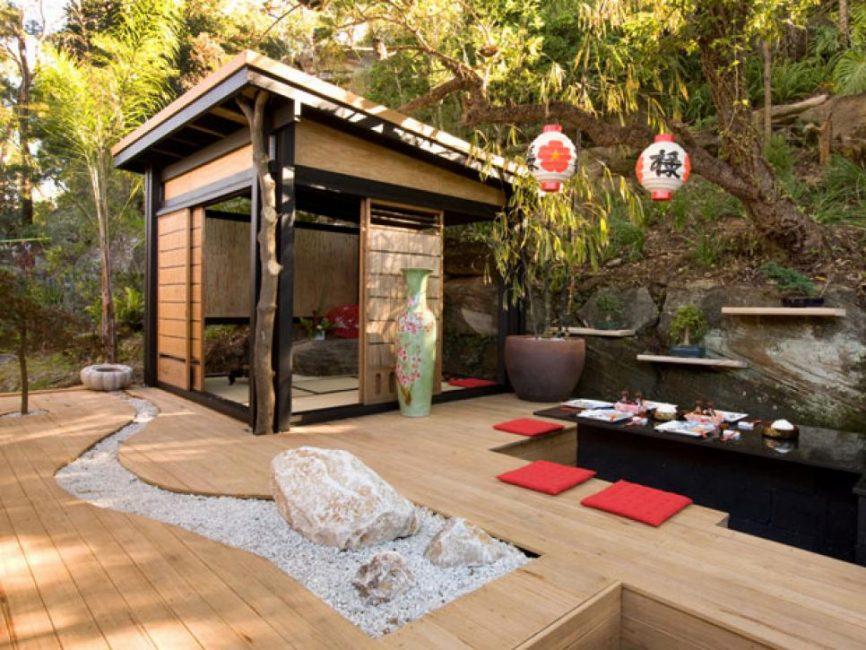 Лучшее дополнение японского сада – чайный домик