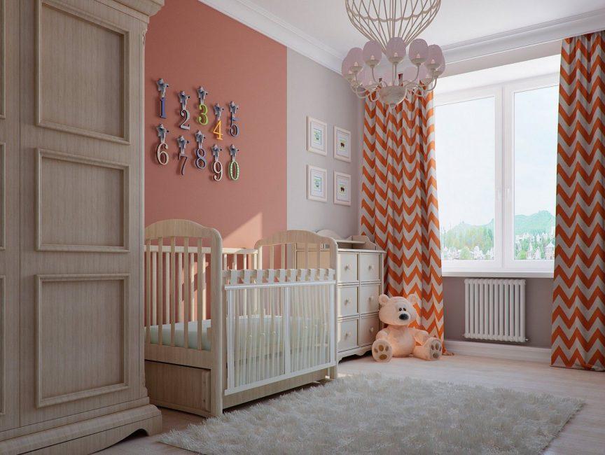 Оранжевые нотки в детской комнате