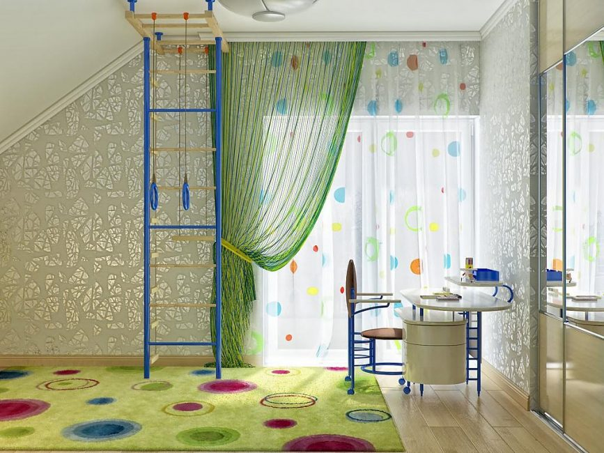 idei-dekora-detskoj-shtorami-130-867x650 Шторы для детской комнаты девочек (77 фото): идеи готовых занавесок и тюли в спальню до подоконника