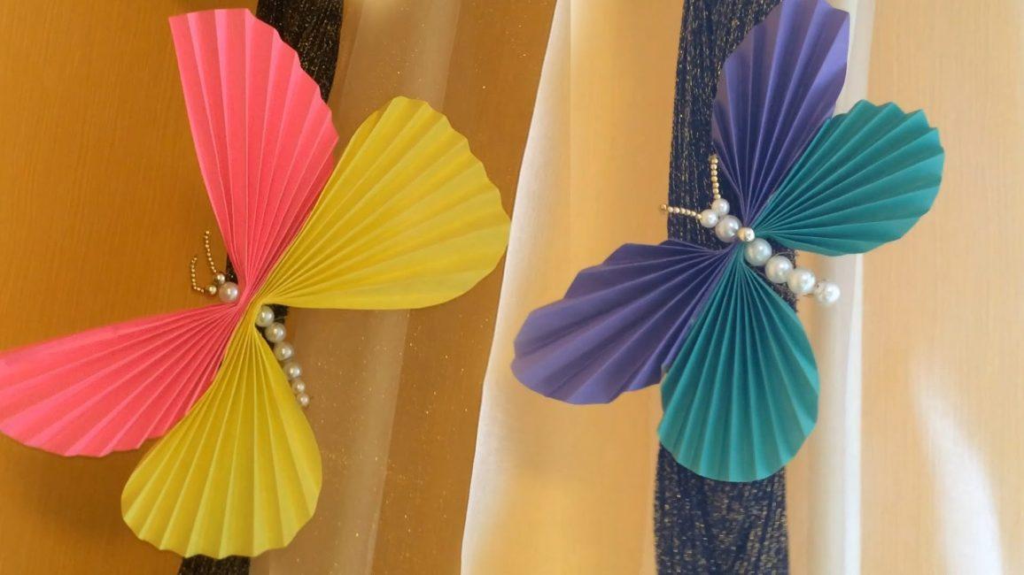 Бабочки из цветного картона