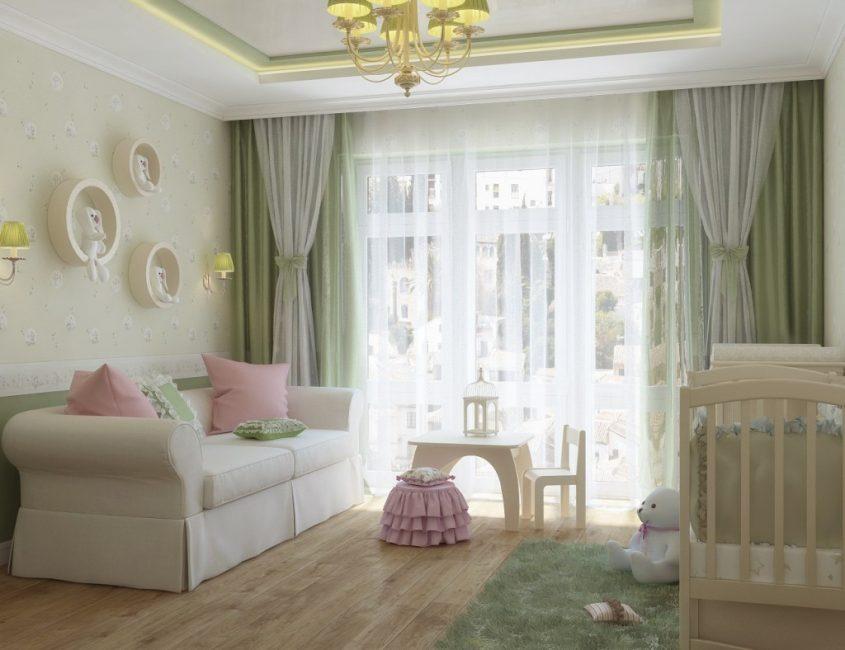 idei-dekora-detskoj-shtorami-178-845x650 Шторы для детской комнаты девочек (77 фото): идеи готовых занавесок и тюли в спальню до подоконника