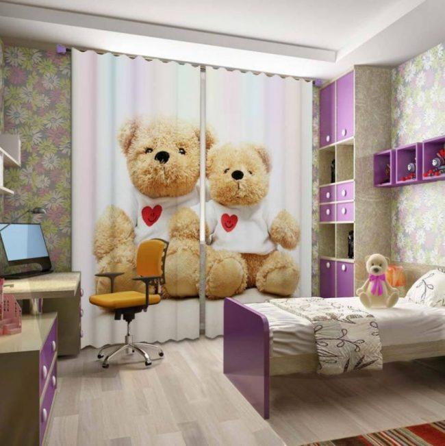 idei-dekora-detskoj-shtorami-180-e1518440691555 Шторы для детской комнаты девочек (77 фото): идеи готовых занавесок и тюли в спальню до подоконника