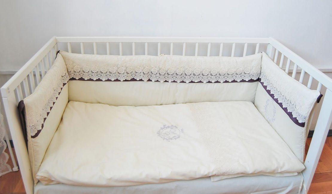 Постель из глянцевого сатина в детскую кровать
