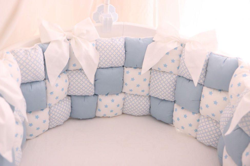 Бортики для кроватки своими руками
