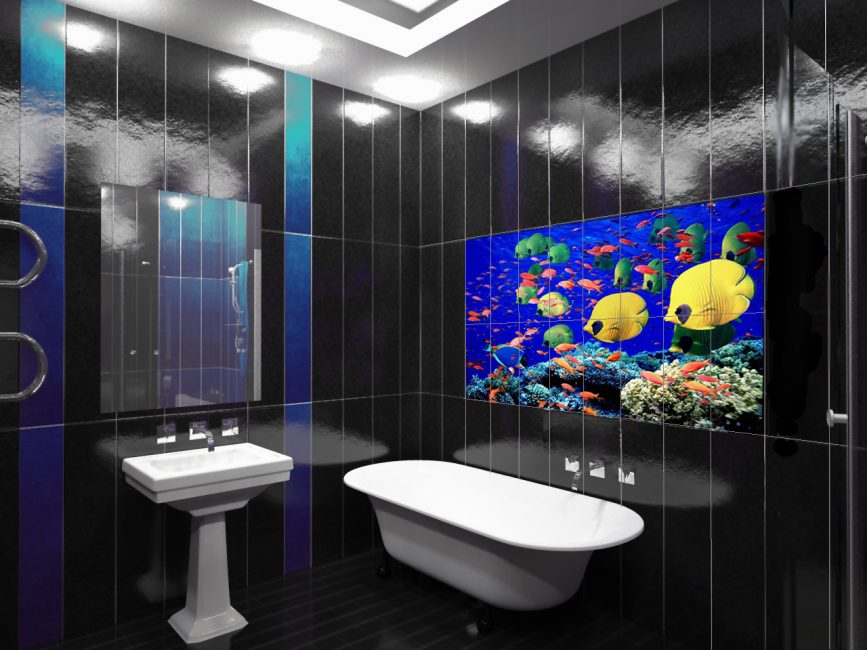 3D плитка морской тематики