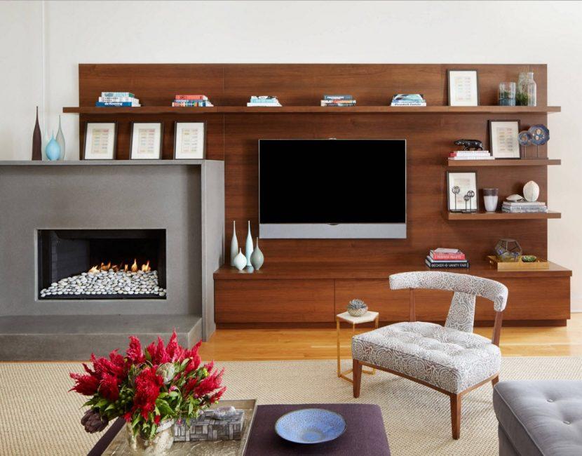 Деревянные панели - популярный элемент дизайна, подходит разным стилям