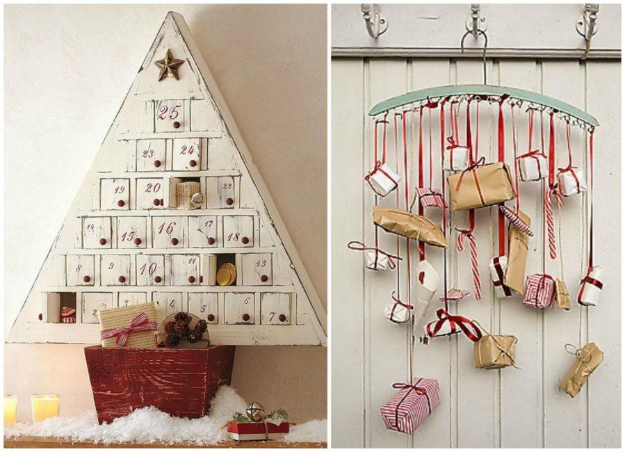Адвент-календарь скрывает ежедневные пожелания или маленькие подарки