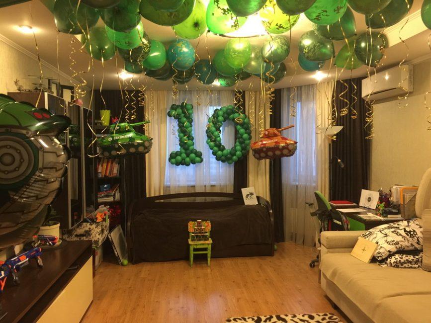 Вариант оформления комнаты для мальчика