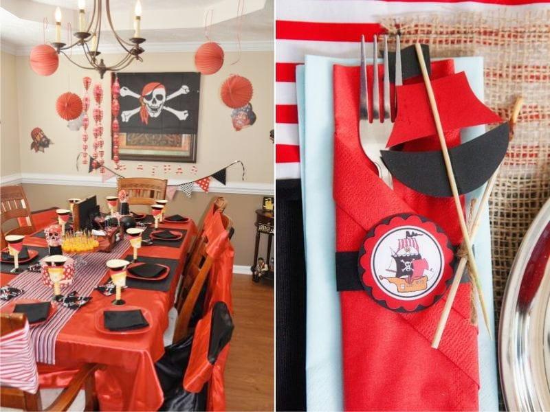 Пиратский праздник в красно-черных тонах