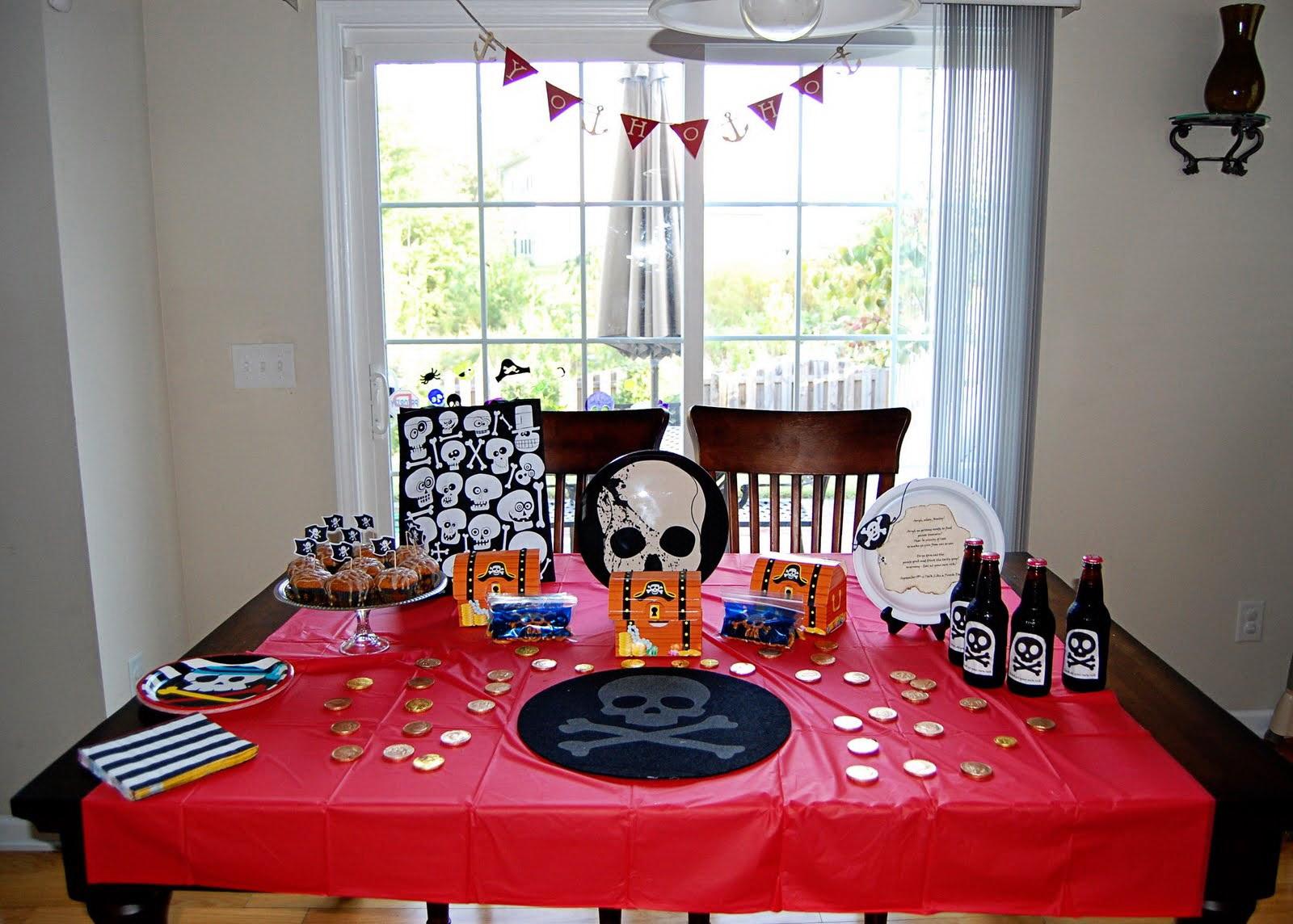 Украшение пиратская вечеринка для детей своими руками 26