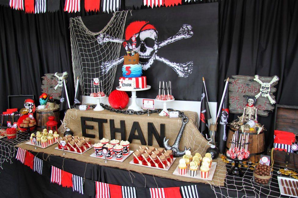 Оформление детского праздника в пиратской тематике