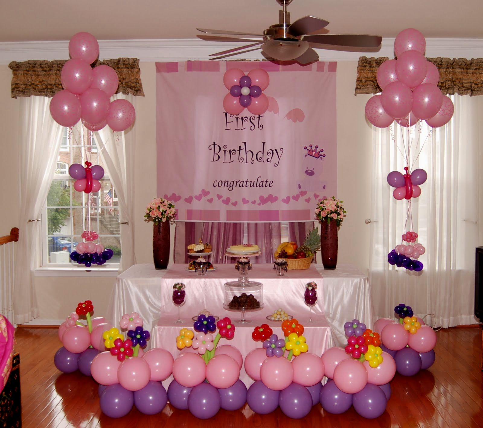 Украсить комнату на день рождения ребенка 1 год своими руками для девочек 11
