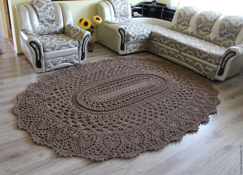 Вязание ковров из шнура спицами 81