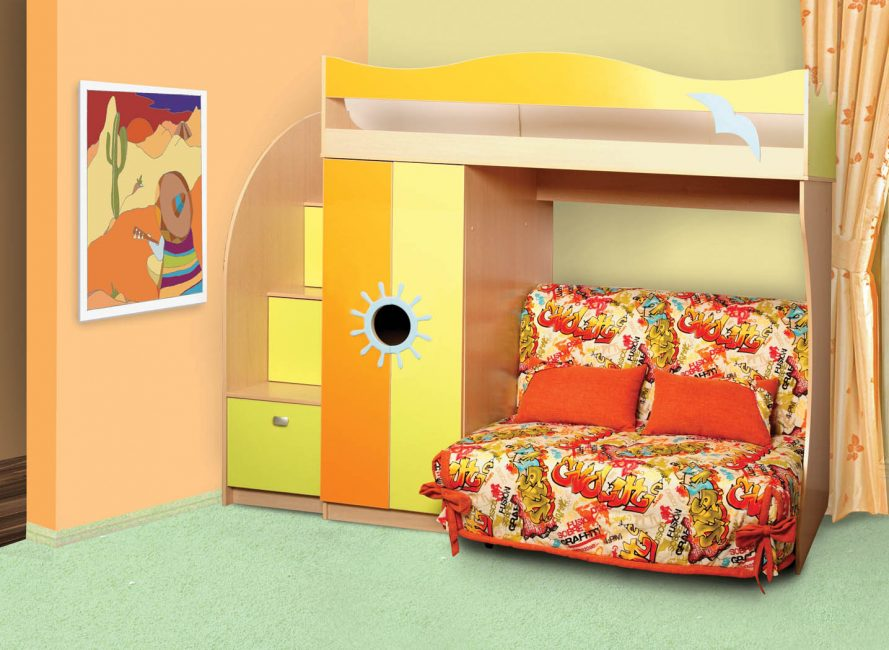 Система шкафов для детской комнаты