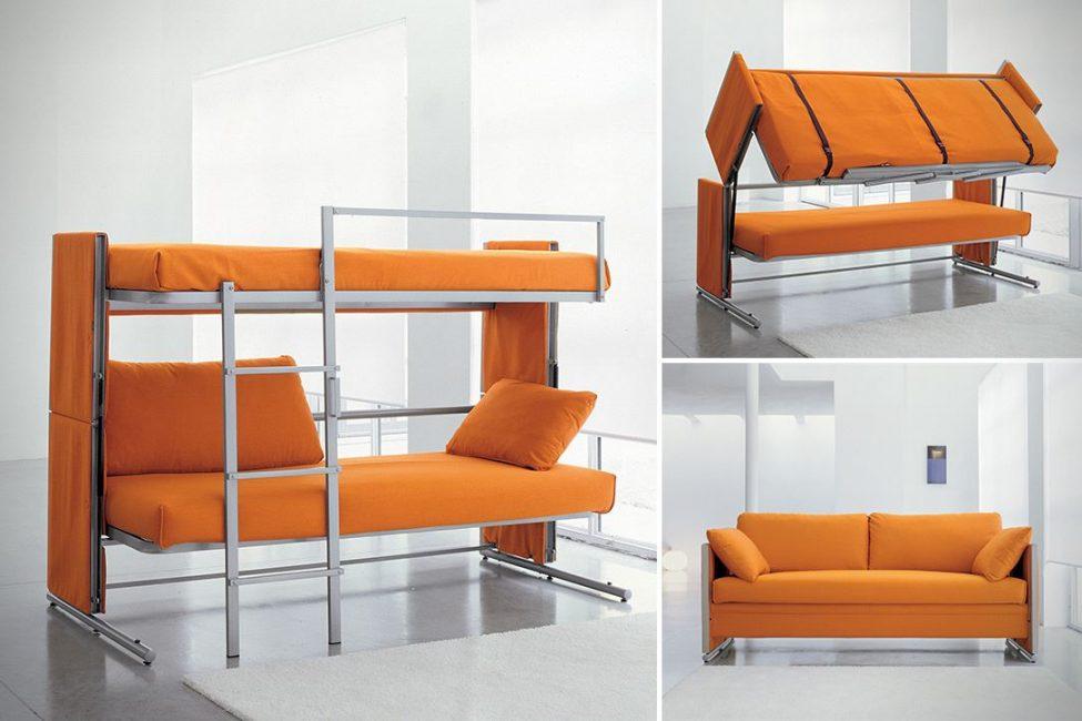 Двухэтажный диван трансформер