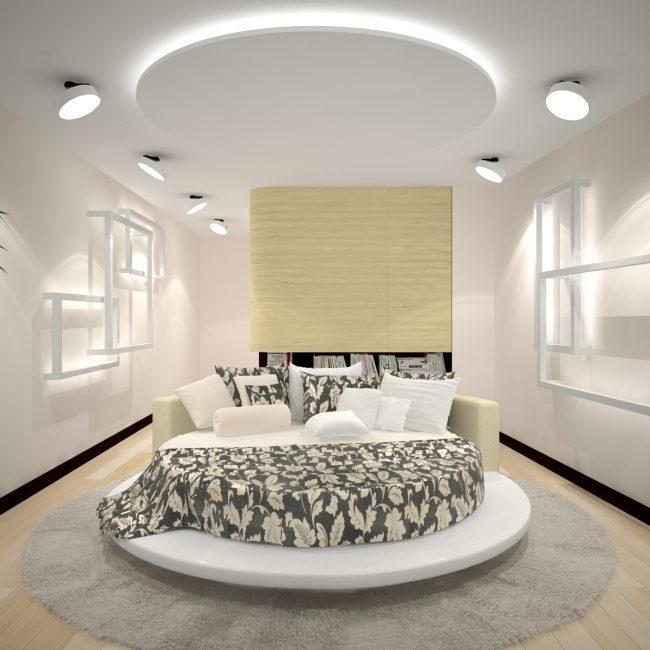 Круглые кровати в стиле модерн
