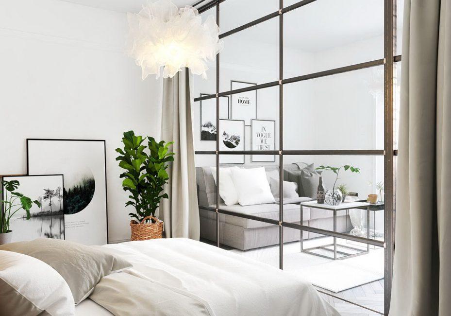 Акценты на растения для комнаты в стиле минимализм