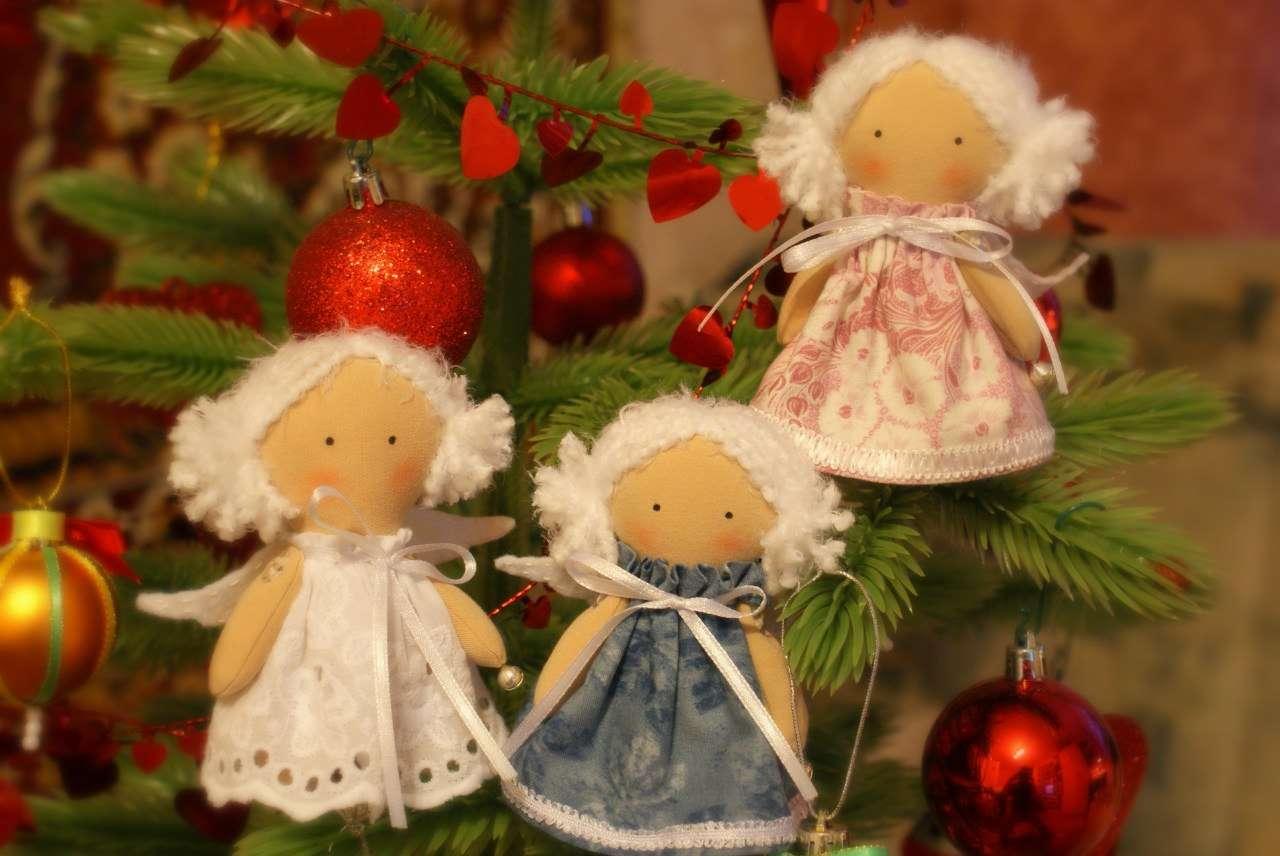 Поделки из ткани к рождеству своими руками