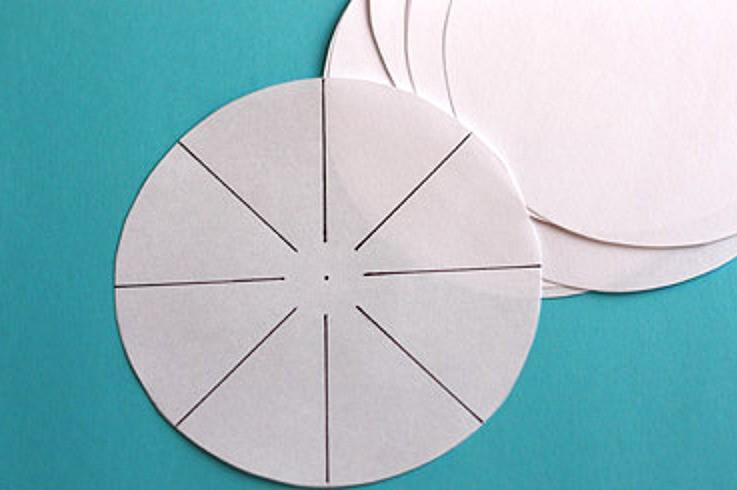 Размечаем круг на восемь частей