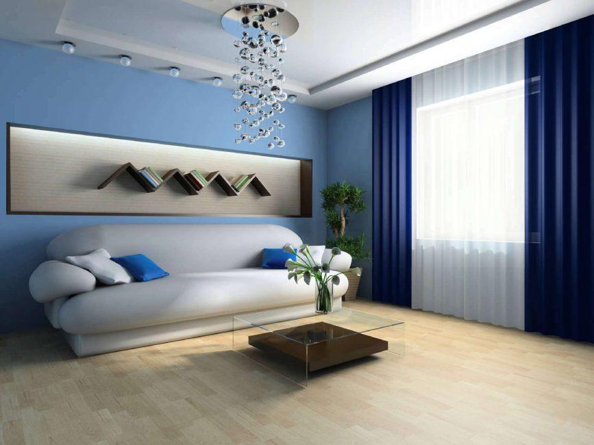 Контрастный голубой цвет