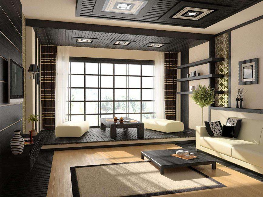 Восточный стиль гостиной