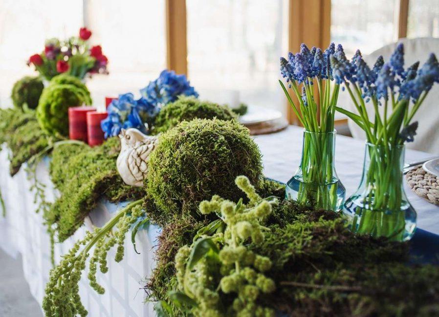 Стиль эко - живых цветов еще больше