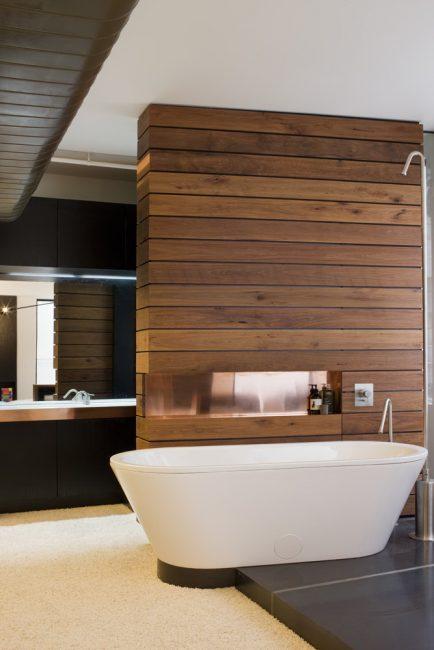 Красивое и необычное решение для ванной