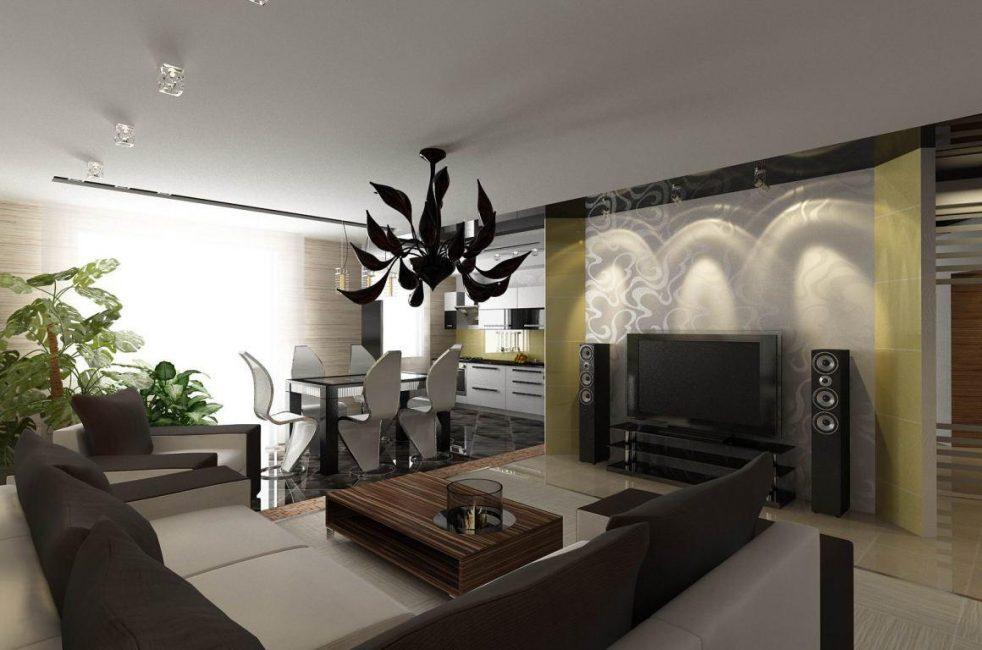 Группировка мебели по зонам в квартире