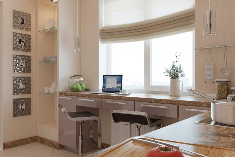 Дополнительная рабочая поверхность на кухне