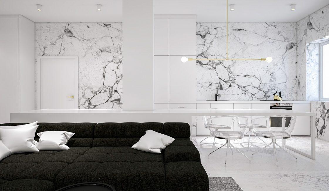 Мраморные плиты в декорировании стен
